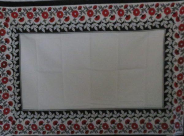 Red Flowers Kanga - Leso - Wrap